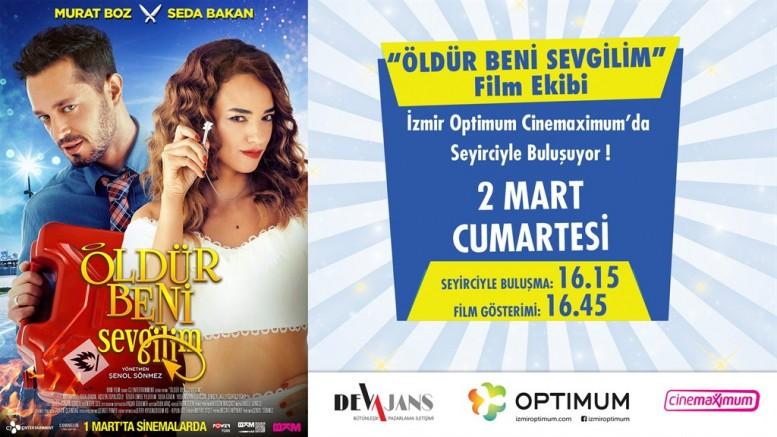 ''Öldür Beni Sevgilim'' Başrol Oyuncuları Murat Boz ve Seda Bakan İzmir'de