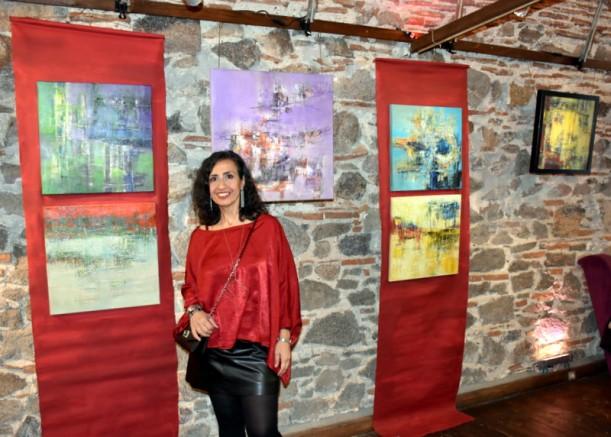Ressam Rana Sirkecioğlu kişisel sergisi açıldı..