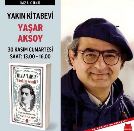 Yaşar Aksoy Kitabını İmzaladı